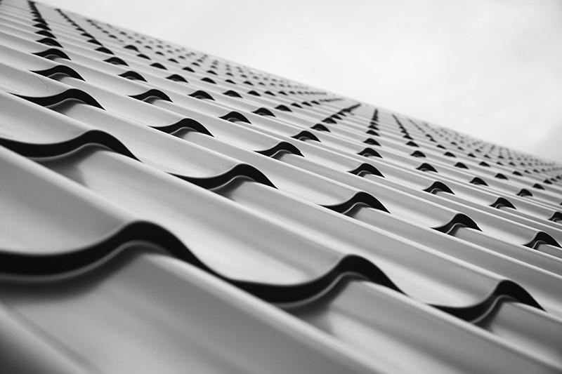 brand new grey roof